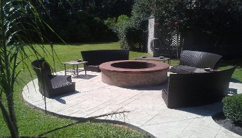 Impressive Concrete Patio